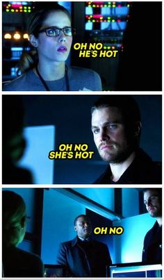 #Olicity. Wiggle wasn't saying oh no he was saying. Oh yeass I ships this otp