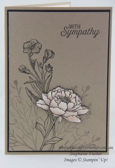 Stampin Up, #thecraftythinker, Sympathy Card, You've Got This, Butterfly Basics