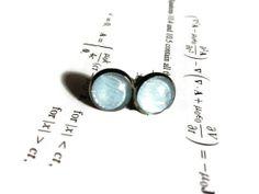 Volt  Earring studs  10mm  Nickle Free  Space by DarkMatterJewelry, $10.00