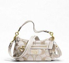 Coach F20044 White Daisy Signature Crossbody Handbag