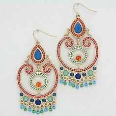 Michelle Chandelier Earrings in Midnight Spice