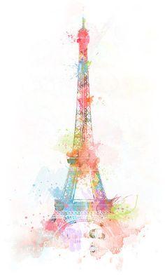 Eiffel Tower  brushwork