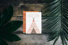 Wild One Aztec Birthday Party Invite | Tipi | Boho Bohemian | Tribal indian| Modern Designs By Redefined Designs on Zazzle