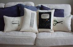 School supply pillows.