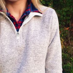 Charles River Apparel Heathered Pullover Zip Fleece Instagram: @kdbelle4
