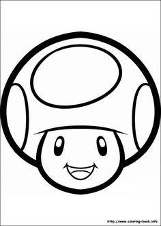Printable coloring pages mario coloring pages to print for Super mario 64 coloring pages