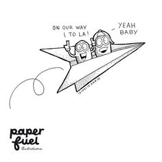 Today we shipped an order to Los Angeles!! How cool!! :-D #illustration #drawing  #doodle #happies #paperfuel