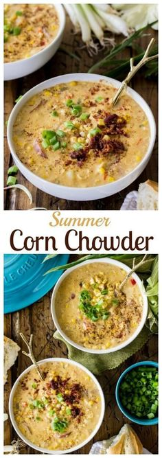 Summer Corn Chowder (& Le Creuset Giveaway!) via @sugarspunrun