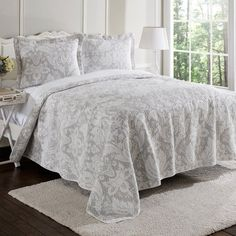 Laura Ashley Connemara Neutral Quilt Set - Quilts & Coverlets at Hayneedle $129.99 King Sz