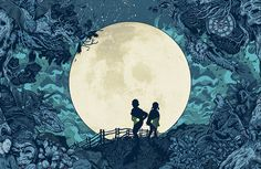 """A Fine Line: The Illustrations of Tim McDonagh   Create """"This was a cover for New Scientist that I did a couple of years back but am still really proud of,"""" says McDonagh. """"The whole issue was about the night, and this image touches on some of the articles in the issue. I was allowed to do whatever I wanted really, and we ended up turning it into a special fold-out cover."""""""
