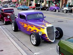 Hotrod with flames | Hot rods at Downers Grove Cruise Night.… | carleyware | Flickr
