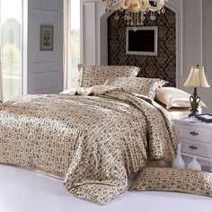 Type: Duvet Cover Set(Without Comforter)Grade: QualifiedMaterial: Silk / CottonPattern: Plain DyedStyle: TwillUse: HomeQuantity: 4 pcsTechnics: WovenPattern Typ Twin Bed Sheets, Silk Bedding, Beige Style, Bed In A Bag, Quilt Cover Sets, Flat Sheets, Comforters, Duvet Covers, Chinese Calligraphy