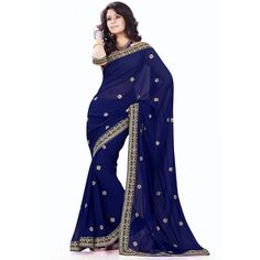 Awesome Georgette Codding& Embroidered Festive Wear & Party Wear Saree at just Rs.970/- on www.vendorvilla.com. Cash on Delivery, Easy Returns, Lowest Price.
