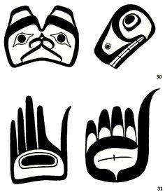 northwest coast art projects for kids Arte Haida, Haida Art, American Indian Art, Native American Art, First Nations, British Columbia, Native Drawings, Kunst Der Aborigines, Art Premier