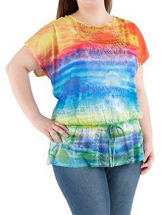 Plus Ombre Lace Inset Top $18