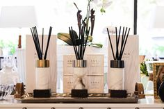 What's better than a pleasant fragrance in a beautiful marble container? 🤍 #diffuser #homescent #shopduhome #duhomecollection Palm Beach Gardens, Home Scents, Luxury Furniture, Diffuser, Marble, Fragrance, Container, Boutique, Interior Design
