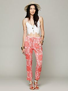 Free People Coral Gardens Pant