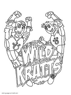 Wild Kratts Coloring Pages  Free Printable  Coloring Print