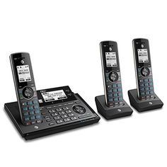 AT&T CLP99387 DECT 6.0 Expandable Cordless Phone with #bluetooth Connect to Cell Smart Call Blocker and Answering System Metallic Blue with 3 Handsets - Only $99.99 - Save 17%!