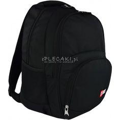 4280cf09664e4 Plecak młodzieżowy ST.RIGHT ST.BLACK czarny BP23 - czarny plecak, czarny  plecak