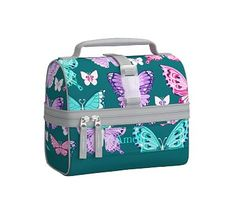 Mackenzie Teal Pretty Butterfly Lunch Bag #pbkids