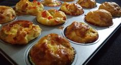 Ei quiches/muffins uit de oven.