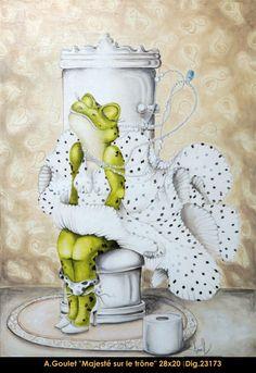 Oeuvre original par / original painting by: Anouck Goulet…