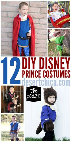 How to make DIY Disney Prince Costumes for Halloween or Disney trips!