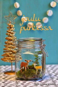 Christamas in a jar / joulu purkissa / sisustus- ja lahjaidea
