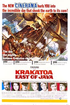 Krakatoa, East of Java (1969).A widow (Diane Baker), a diver (Brian Keith) and convicts board a captain's (Maximilian Schell) ship bound for volcanic disaster in 1883 Singapore.