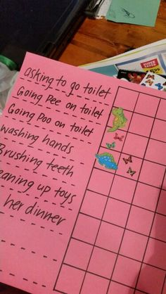 I looked on pinterest for a long time trying to find a simple toilet training chart and this is what i came up with. I done this reward chart today for my 2.5 year old and it works like a charm ! So proud if her.