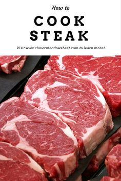 Steak 101: Get step-by-step directions on how to cook steak (other than grilling), the difference between Prime, Choice, and Select, and more. | www.clovermeadowsbeef.com