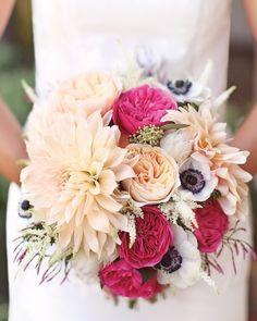 roses, dahlias, anemones, and astilbe