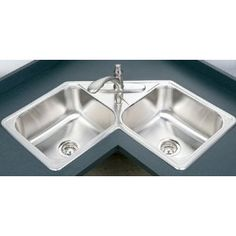 A Stainless Steel Corner Kitchen Sink Is Like The Ultimate Way To  Effectively Use Every Inch Of Space In Your Kitchen.