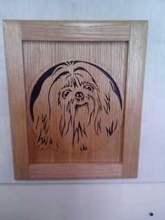 Shih Tzu oak wall Plaque by Rickswoodworks1 on Etsy