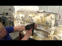 How to Reupholster an Armchair - YouTube