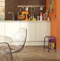 Tendance cuisine couleur orange peinture Leroy Merlin