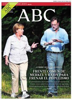 La portada de ABC del martes 1 de septiembre