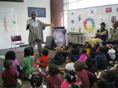 """West End Branch Library (Atlanta-Fulton Public Library System) participated in the reading of Dr. King's Letter. Storyteller, Akbar Imhotep shared stories all with messages about justice. """"Akbar was able to translate the message of Dr. King's letter so that all the children left with the message 'we can't wait [for justice]!'"""" http://www.fotwel.org/west-end-celebrates-50th-anniversary-of-mlkjr-s-letter-from-birmingham-jail-with-akbar-imhotep/"""
