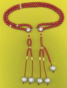 Juzu beads. Buddhist prayer beads, making them at Mt. Koya!