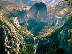 Les cascades dans le parc de Yosemite (Californie) vues depuis Glacier Point www.voyage-aux-etats-unis.com/j6-yosemite-park/