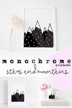 A beautiful monochrome printable makes a huge difference! Scandinavian art suits many spaces and styles. Black and white art is a must-have in any Nordic art collection. Download, print and decor!