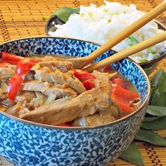"""Slow Cooker Thai Pork with Peppers 