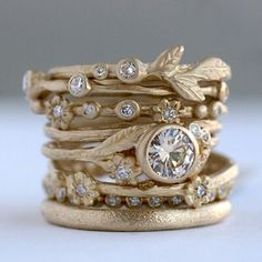 pictures of sofia kaman stack rings | Uncommonly Beautiful Stacking Rings by Sofia Kaman Fine Jewels - Mon ...