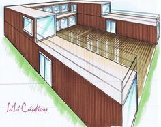 shipping container homes with courtyard - Google Search
