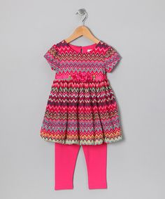Take a look at this Pink Zigzag Tunic & Leggings - Infant & Toddler by Youngland on #zulily today!