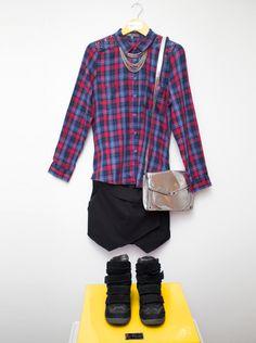 La camisa a cuadros: 04 formas de combinarla   Moda Saga Falabella