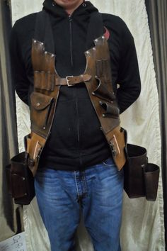 Handmade Leather tool vest, customized leather tool vest, personalized leather tool vest, leather to Diy Leather Tool Pouch, Leather Rifle Sling, Leather Craft Tools, Leather Projects, Custom Leather, Handmade Leather, Electrician Tool Pouch, Tool Apron, Leather Apron