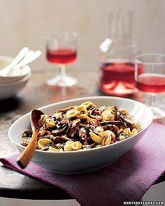 Orecchiette with Mushrooms, Radicchio, and Gorgonzola Recipe