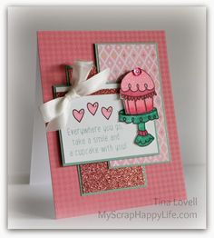 My Scrap Happy Life: December Stamp of the Month~ Cutie Pie stamp set.  #ctmh #sotm #alcoholmarkers